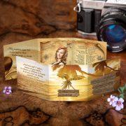 Pirátske maturitné oznamko so skrytým pokladom a plážou.