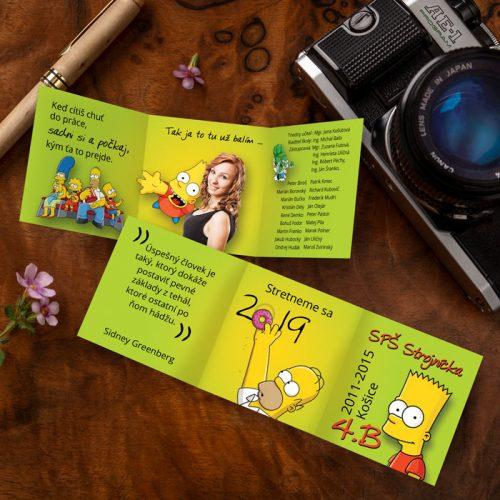 Maturitné oznamká s obľúbenými postavičkami Bart, Homer, Líza...