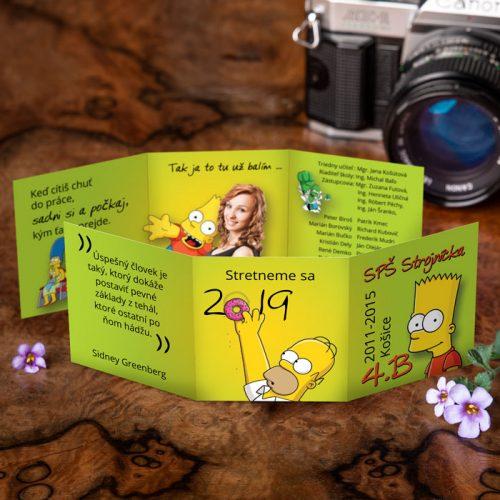 Obľúbené oznamko s postavičkami zo seriálu Simpsonovci.