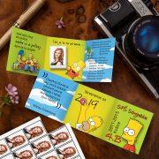 The Simpsons oznamko s lepiacimi oznamkovými fotkami.