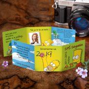 Rozprávkové maturitné oznamko na štýl seriálu The Simpsons.