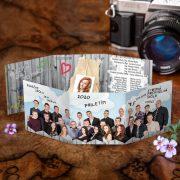 Maturitné oznamká s fotkou maturantky ktorú si žiaci do oznamka nalepia.